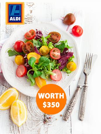 ALDI supermarkets gift card worth 350 dollars